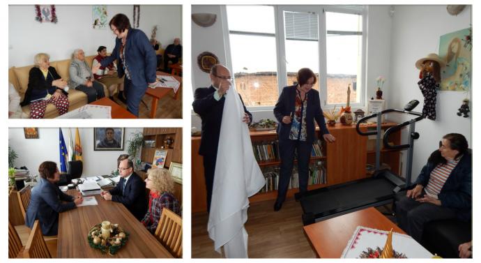 Коледен подарък от общината за Дома за стари хора в Добродан